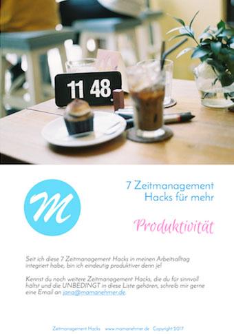 Mamanehmer Zeitmanagement Hacks Cover