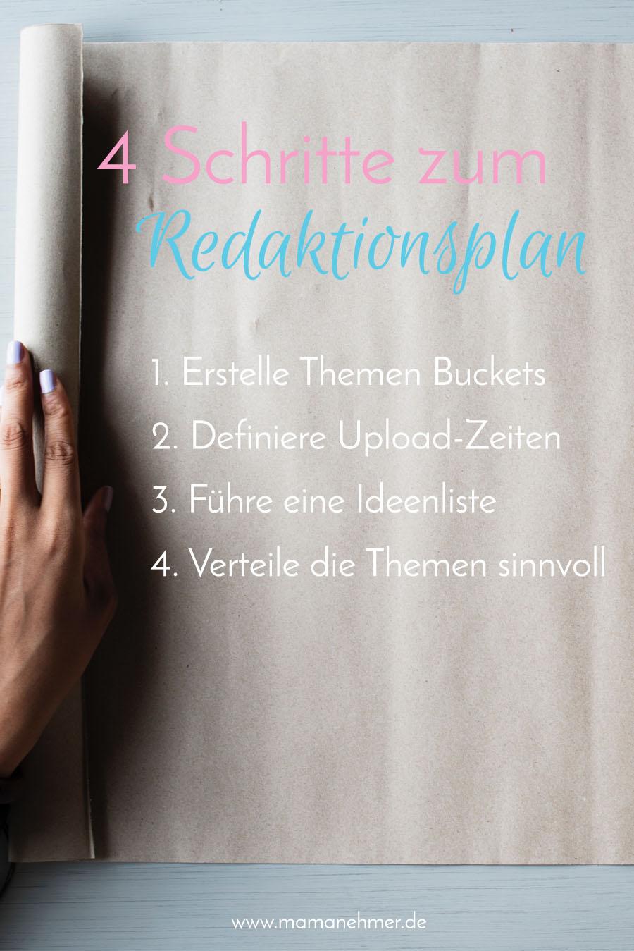 4 Schritte zum perfekten Redaktionsplan
