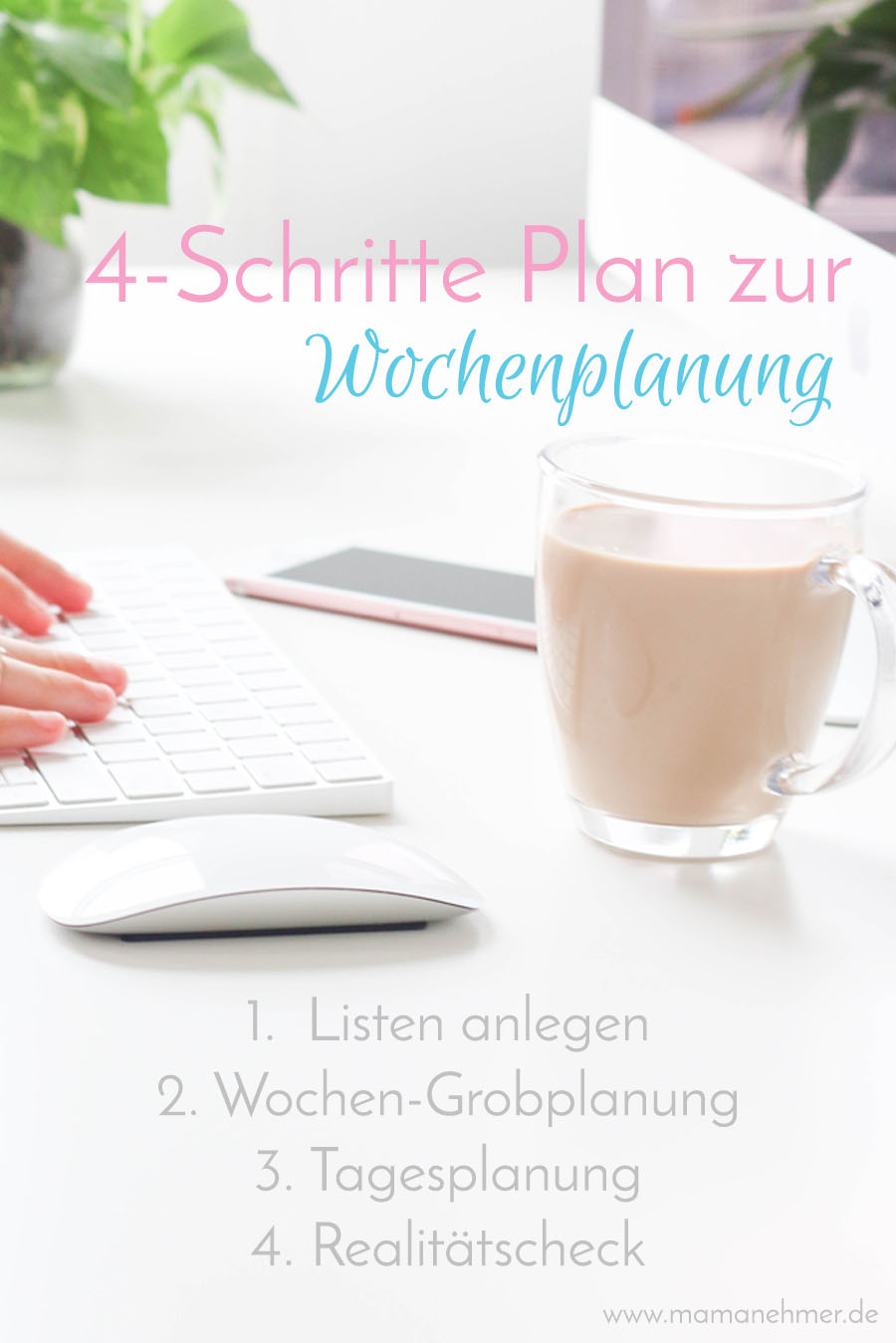 Wochenplanung im Mamanehmer Business 4-Schritte Plan
