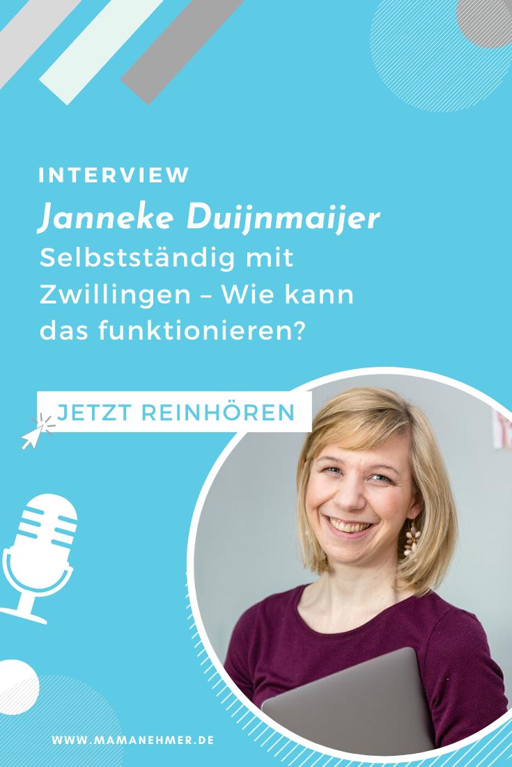 Selbstständig mit Zwillingen – Interview mit Janneke Duijnmaijer von Blog your Thing