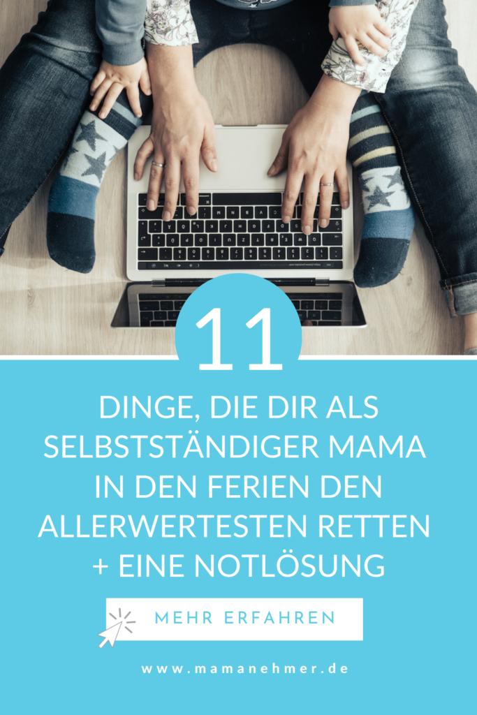 Es sind Ferien. Aber was tun in den Ferien? In meiner Podcast-Episode gebe ich dir 11 Tipps gegen Langeweile in den Ferien. Ferien mit Kindern zu Hause müssen als selbstständige Mama nicht zum Alptraum werden. Was du dagegen tun kannst, erfährst du auf meinem Blog zum Anhören und Nachlesen. #Mamanehmer
